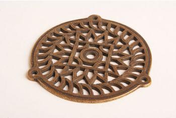 Rooster brons antiek 130mm