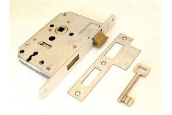 Slot met sleutel 55mm messing 8mm links/rechts