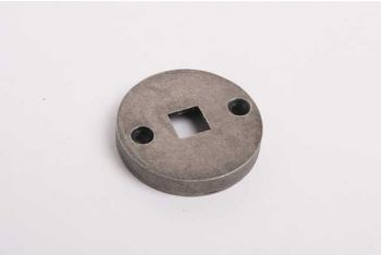 Rozet rond 41mm brons antiek voor trekbel aan binnenzijde