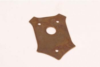 Rozet schild brons antiek 56x80mm voor deurkrukken