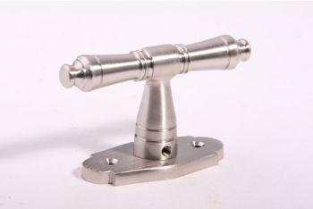 Raamkruk 92mm geborsteld nikkel 7mm