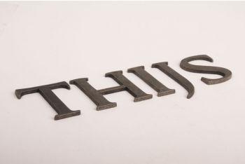 Letters zilver/grijs antiek A-Z, &, @, - 80mm zs