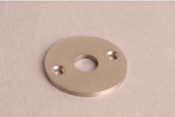 Rozet rond 50mm geborsteld nikkel