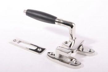 Raamsluiting links ton-model blinkend chroom - ebbenhout