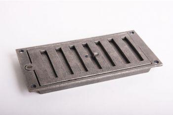 Afsluitbaar rooster antiek grijs 213 x 104 mm