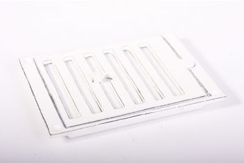Afsluitbaar rooster antiek wit (oude look) 121 x 174 mm
