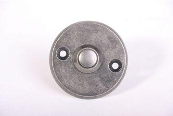 Deurbel rond zilver antiek 50mm
