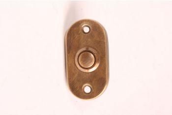 Deurbel-beldrukker brons antiek 29mm afgerond
