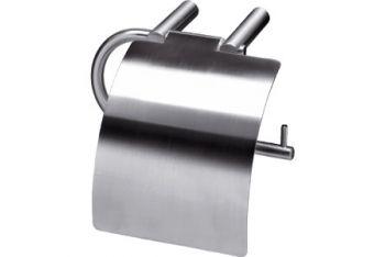 WC-rolhouder geborsteld RVS hangmodel met klep