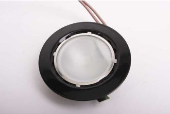 Ronde inbouw spot zwart 12V halogeen 55mm diameter met G4 10W lampje