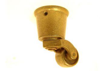 Wieltje antiek brons rond 38mm/70mm.