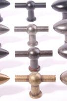 kraanknop chemin de fer - T-knop voor keuken en meubel
